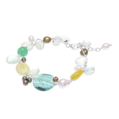 Beaded Gemstone Bracelet from Thailand