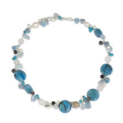 Unique Beaded Turquoise Colored Necklace