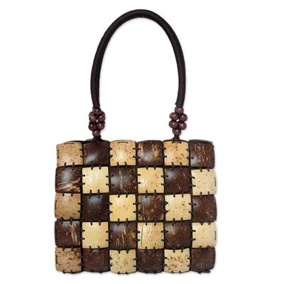 Novica Coconut shell handbag, Coco Art