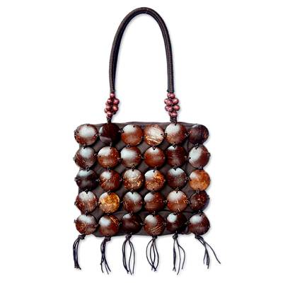 Coconut shell handbag