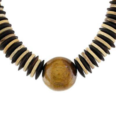 Coconut shell beaded necklace