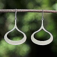 Sterling silver dangle earrings, 'Fascination'