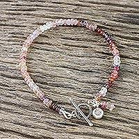 Spinel floral bracelet,