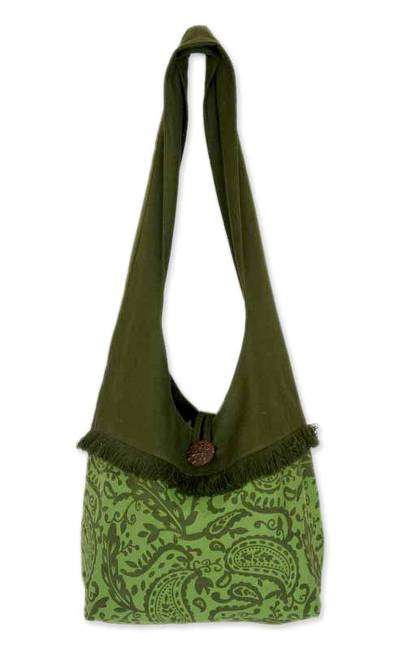 Cotton shoulder bag