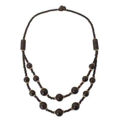 Unique Coconut Shell Beaded Necklace