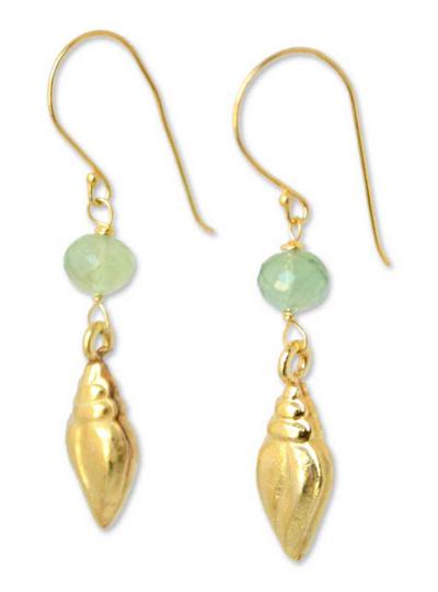 Handmade Gold Vermeil Prasiolite Earrings