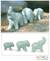 Celadon ceramic figurines, 'Elephant Family' (set of 3) - Artisan Crafted Celadon Ceramic Sculptures (Set of 3) (image 2) thumbail