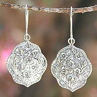 Sterling silver flower earrings, 'Spring Bouquet' - Sterling Silver Flower Earrings
