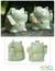 Celadon ceramic statuettes, 'Fortune Cats' (pair) - Handcrafted Celadon Ceramic Sculptures (Pair) thumbail
