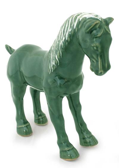Celadon ceramic figurine
