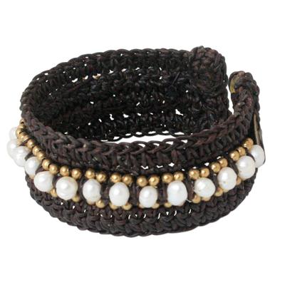 Hand Made Pearl Cuff Bracelet