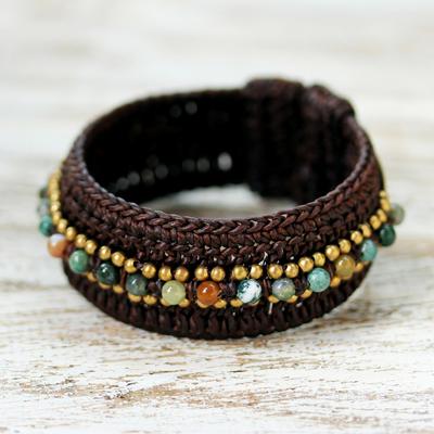 Agate cuff bracelet, 'Thai Supreme' - Agate Cuff Bracelet from Thailand