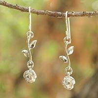 Sterling silver dangle earrings, 'Garland'