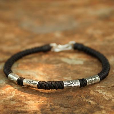 Silver braided bracelet, 'Hill Tribe Belle' - Artisan Crafted Silver Bracelet