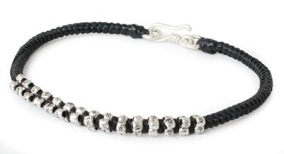 Fine Silver Flower Bracelet