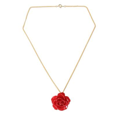 Hand Made Natural Flower Pendant Necklace