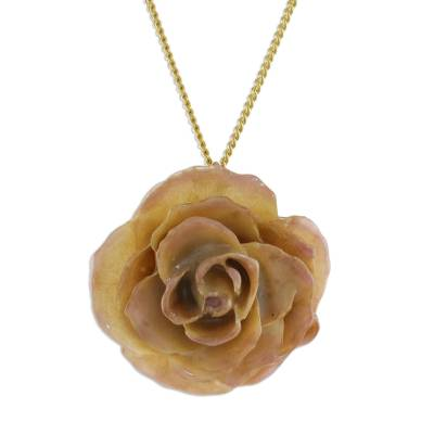 Natural Flower Pendant Necklace from Thailand
