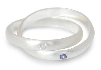 Fair Trade Sterling Silver and Iolite Ring