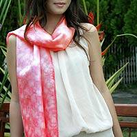 Scarf, 'Mottled Red' - Scarf