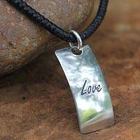 Sterling silver pendant necklace, 'Spirit of Love' - Sterling Silver Pendant Necklace