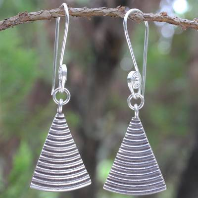 Sterling silver dangle earrings, 'Karen Song' - Sterling silver dangle earrings