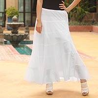 Cotton skirt, 'Chiang Mai Belle' - Fair Trade Cotton Skirt from Thailand