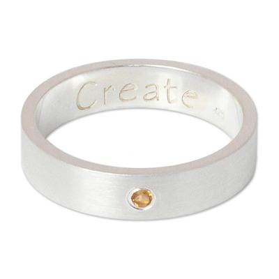 Citrine band ring