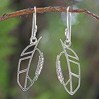 Sterling silver dangle earrings, 'Autumn Abstraction' - Sterling silver dangle earrings