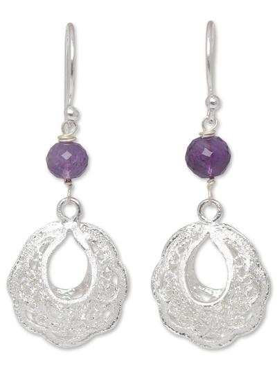Amethyst filigree earrings