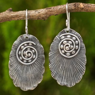 Sterling silver dangle earrings, 'Lanna Glamour' - Thai Sterling Silver Dangle Earrings