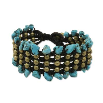 Artisan Crafted Beaded Turquoise Colored Bracelet