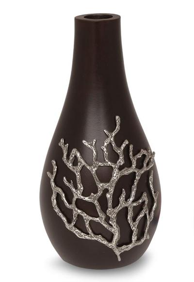 Artisan Crafted Mango Wood Vase