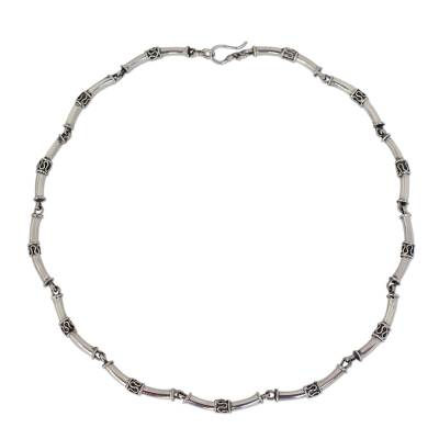 Sterling silver chain necklace, 'Bamboo' - Sterling Silver Chain Necklace