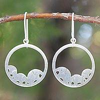 Sterling silver dangle earrings, 'Elephant Journeys'