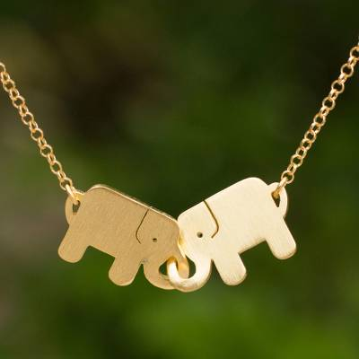 Friendship Pendant Necklace Gold plated pendant necklace elephant friendship novica gold plated pendant necklace elephant friendship gold plated pendant necklace audiocablefo