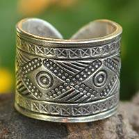 Sterling silver wrap ring, 'Chiang Rai Promise' - Handcrafted Sterling Silver Band Ring