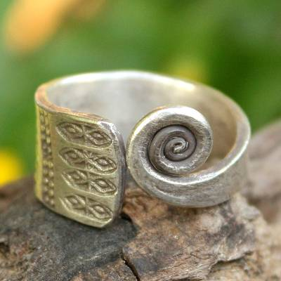 Hill Tribe Sterling Silver Wrap Ring