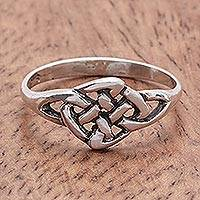 Sterling silver cocktail ring, 'Endless Love' - Hand Made Sterling Silver Band Ring