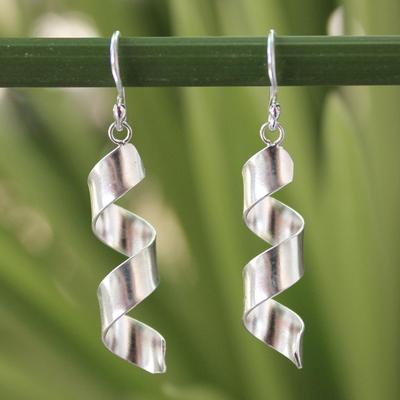 Sterling silver dangle earrings, 'Mae Ping Breeze' - Artisan Crafted Sterling Silver Dangle Earrings