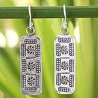 Sterling silver dangle earrings, 'Chiang Mai Harmony' - Sterling silver dangle earrings