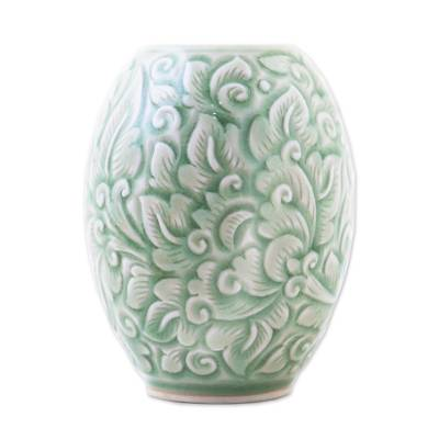 Green Celadon Ceramic Vase