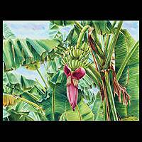 'Blossom of the Banana Tree II' - Fine Art Watercolor Painting