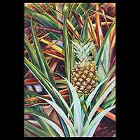 'Pineapple' - Original Watercolor Painting