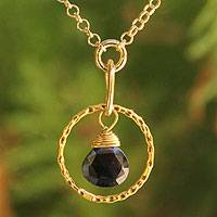 Gold vermeil spinel pendant necklace, 'Thai Delight' - Gold vermeil spinel pendant necklace