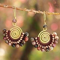 Tourmaline dangle earrings, 'Candy Kiss'