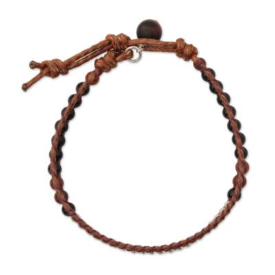 Agate and jasper beaded bracelet, 'Hill Tribe Memory' - Agate and jasper beaded bracelet