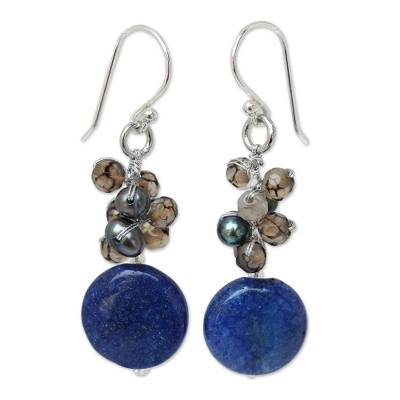 Thai Beaded Quartz Earrings