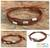 Silver accent wristband bracelet, 'Hill Tribe Friend in Cinnamon' - Thai Silver Wristband Bracelet thumbail
