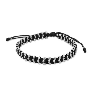Silver accent wristband bracelet