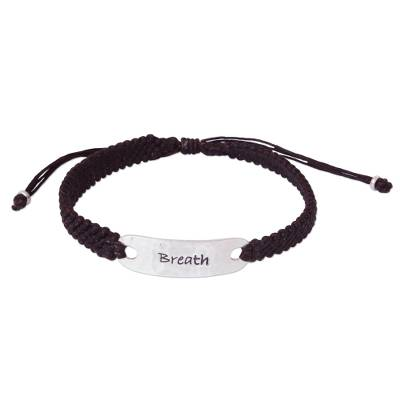 Silver accent wristband bracelet, 'Life's Breath' - Sterling Silver Bracelet